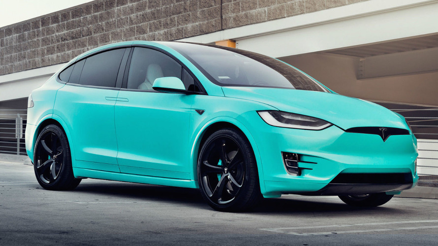 Unique Tiffany Blue Tesla Model X hits eBay for $188,000