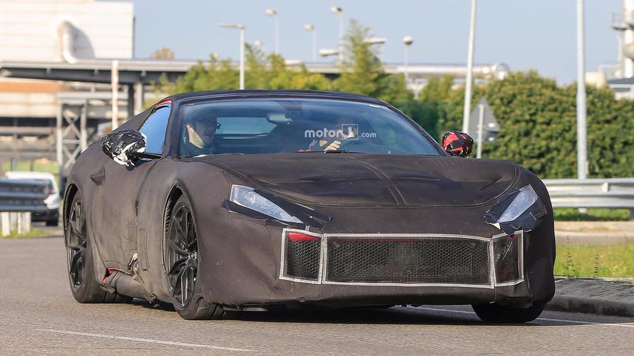 Ferrari F12 M Camouflaged Spy Photos