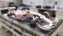Manor wind tunnel model car