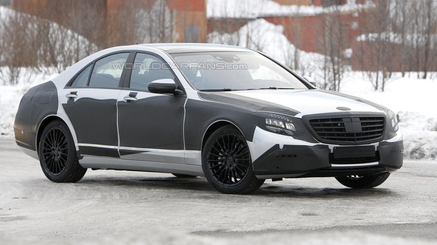 New Mercedes S-Class spied with less camo