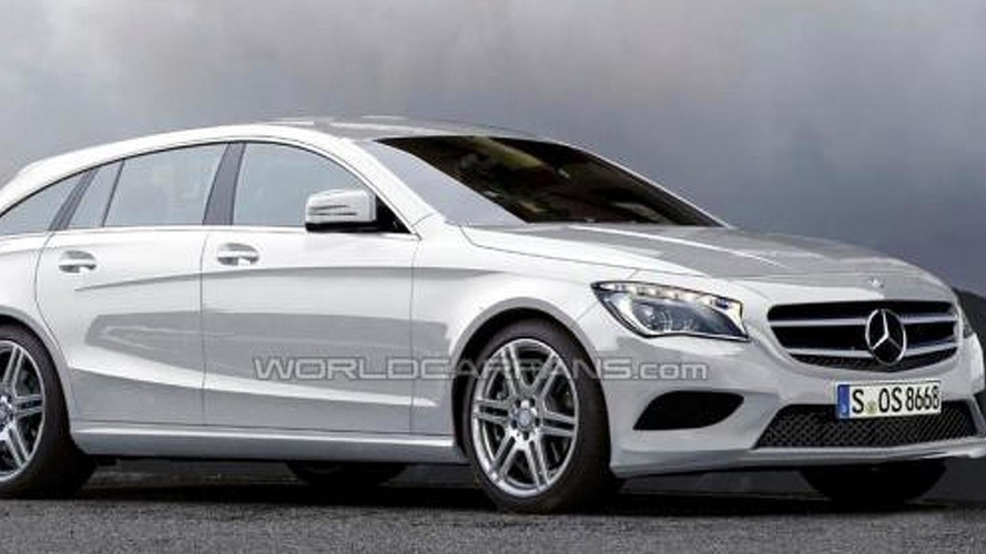 Mercedes CLC / CLA Shooting Break speculatively rendered