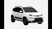 Primo rico do Uno: Fiat Panda 4x4 aparece em registro de patentes europeu