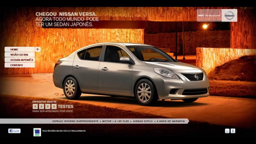 Nissan Versa já tem site no Brasil