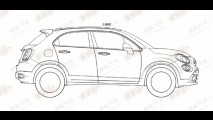 Vazou: novo crossover Fiat 500X aparece em imagens de registro de patente