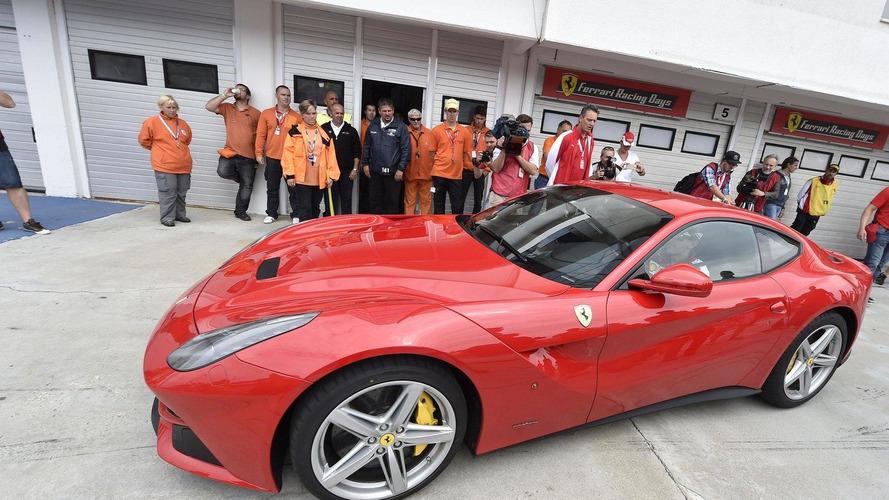 Sebastian Vettel takes a spin in the Ferrari F12berlinetta [video]