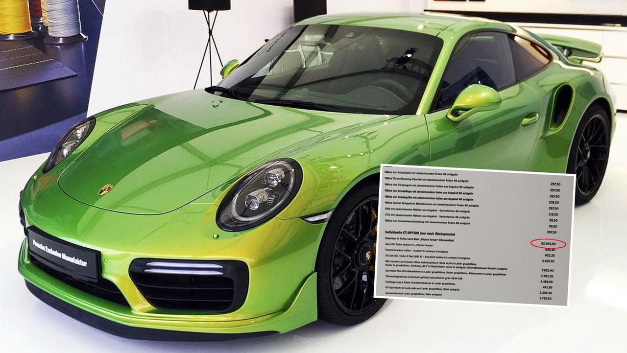 Porsche 911 Turbo S Python Green Chromaflair