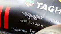Aston Martin logo on the Red Bull Racing RB12