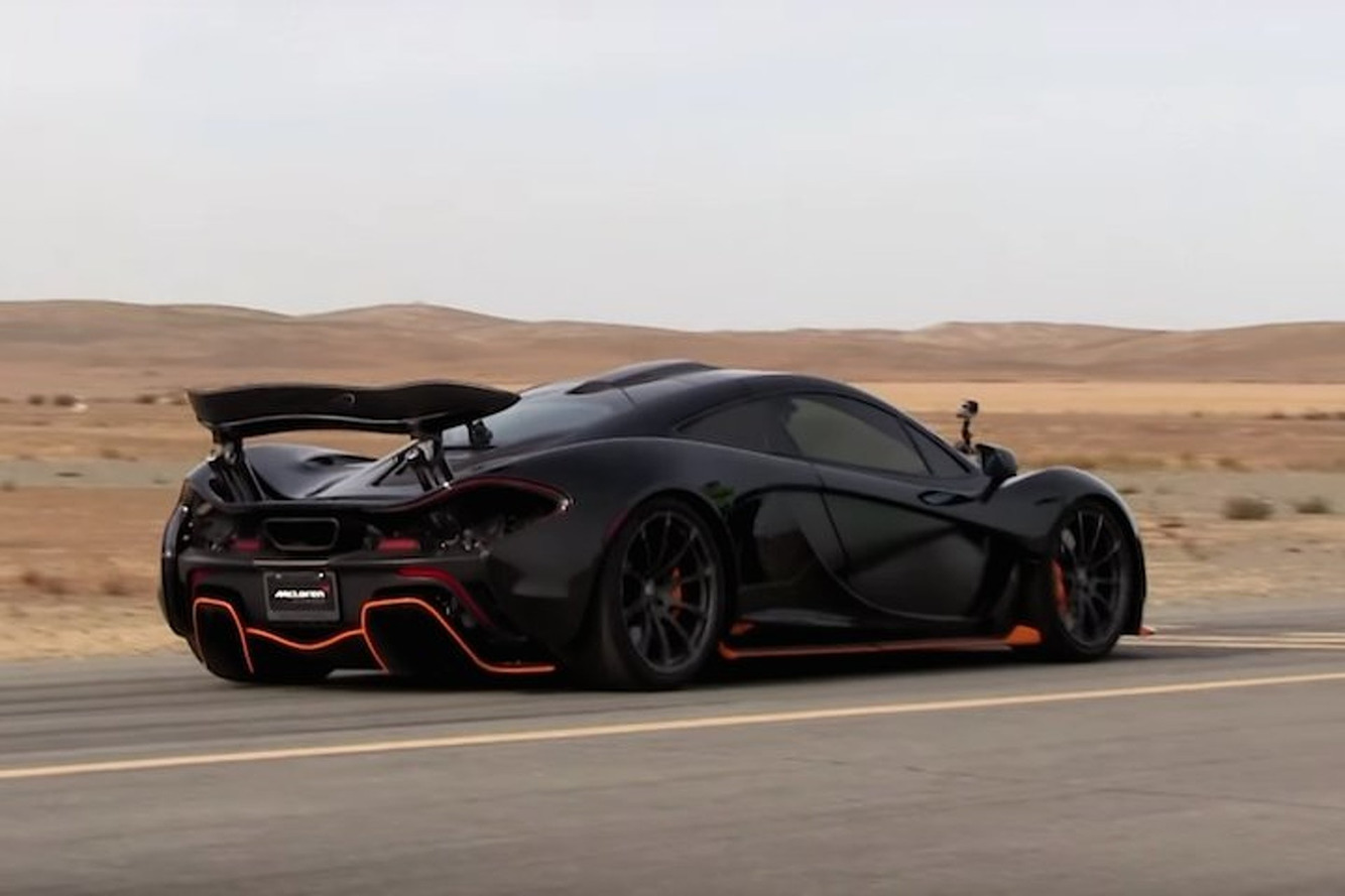 Watch a McLaren P1 Take on a McLaren 650S on the Drag Strip