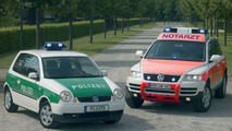 Lupo police car and Touareg emergency ambulance