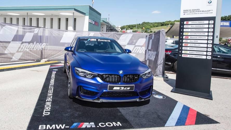 El M3 CS se convierte en el 'trofeo' del BMW M Award de MotoGP