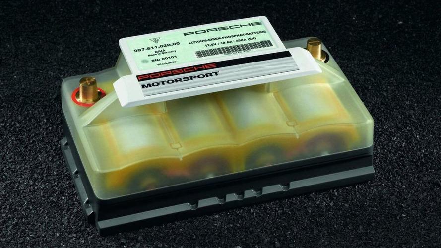 Porsche Announces New Lightweight Lithium-Ion Starter Battery Option