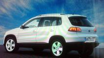 Volkswagen Tiguan Facelift rear three-quarter brochure image leaked