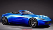 Aston Martin DB10 Volante rendered