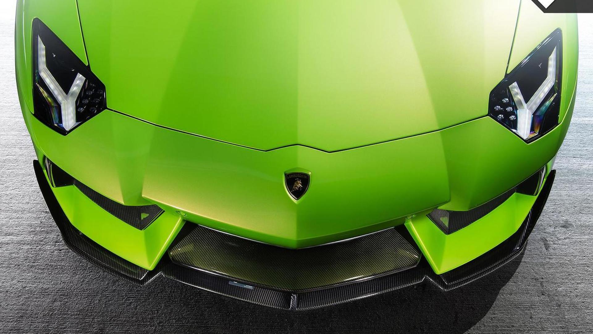 Карбоновый сплиттер Lamborghini Aventador-V Roadster The Hulk