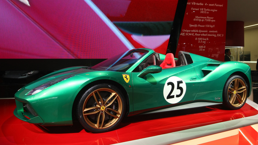 Ferrari 488 Spider 70e anniversaire Mondial de l'Automobile
