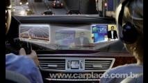 Mercedes Classe S terá display único que mostra 2 programas ao mesmo tempo