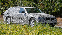 Heavily camouflaged 2017 BMW 5-Series Touring spied in Germany