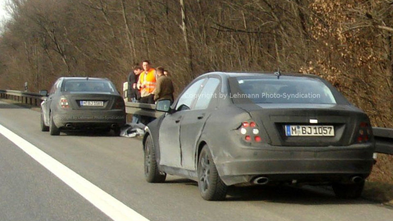 New Mercedes C-Class Sheds Disguise on Autobahn