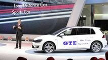 Volkswagen Golf GTE live in Geneva