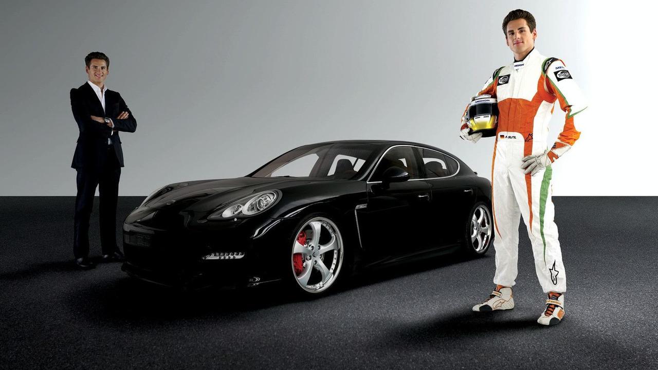 Techart Porsche Panamera with Formula 1 race driver Adrian Sutil