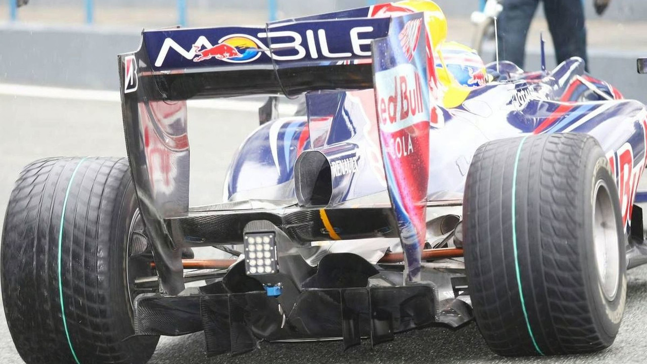 Rear diffuser of the Red Bull, Jerez, Spain, 10.02.2010
