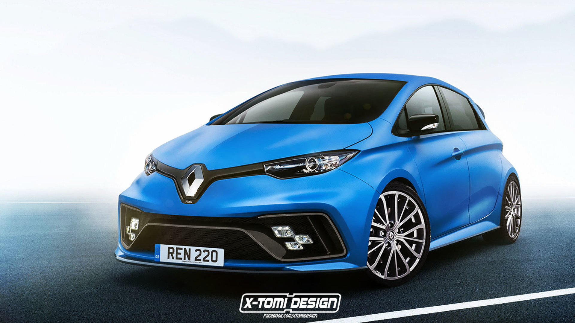renault zoe rs render is less bonkers than the e sport concept. Black Bedroom Furniture Sets. Home Design Ideas