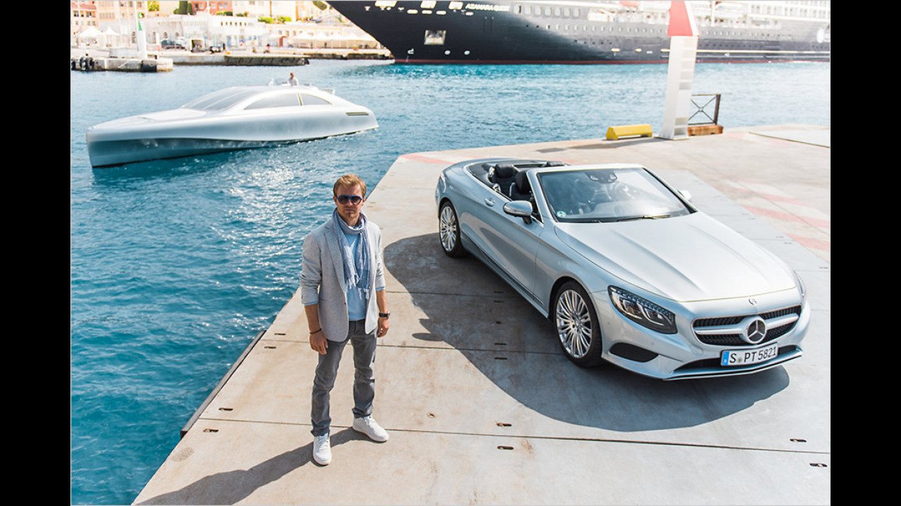 Nico Rosberg: Mercedes S-Klasse Cabriolet und Yacht