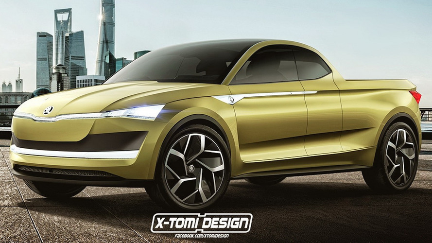 Skoda Vision E Pickup Concept Only Exists In The Digital Realm