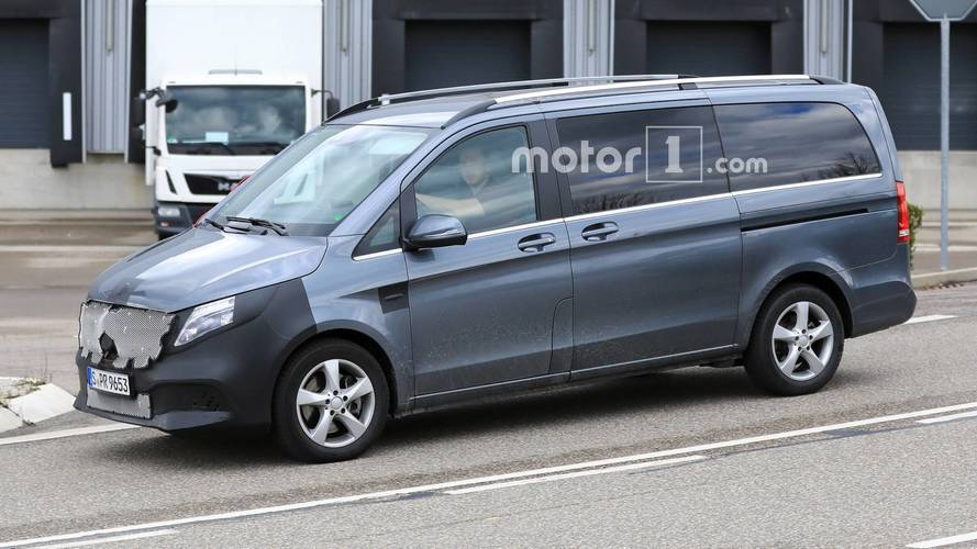 Mercedes-Benz V-Class Facelift Spied Testing With Less Camouflage