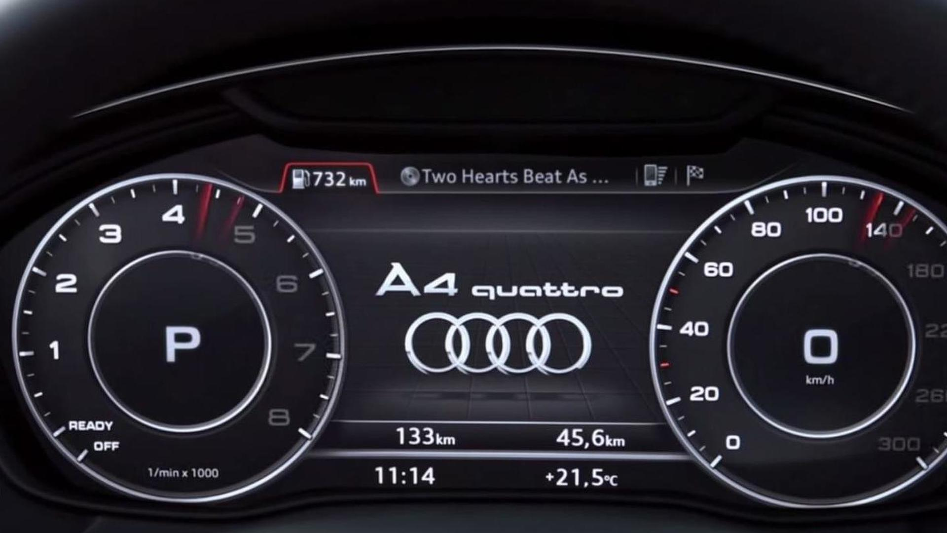 2016 audi a4 s virtual cockpit demonstrated in new promo video. Black Bedroom Furniture Sets. Home Design Ideas