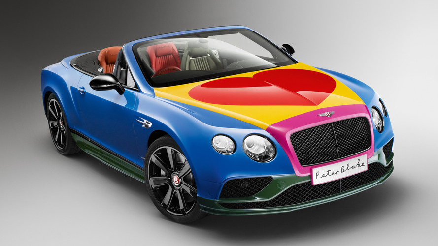 Bentley Continental GT V8 S Convertible art car unveiled