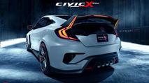 Honda Civic Type R Coupe render