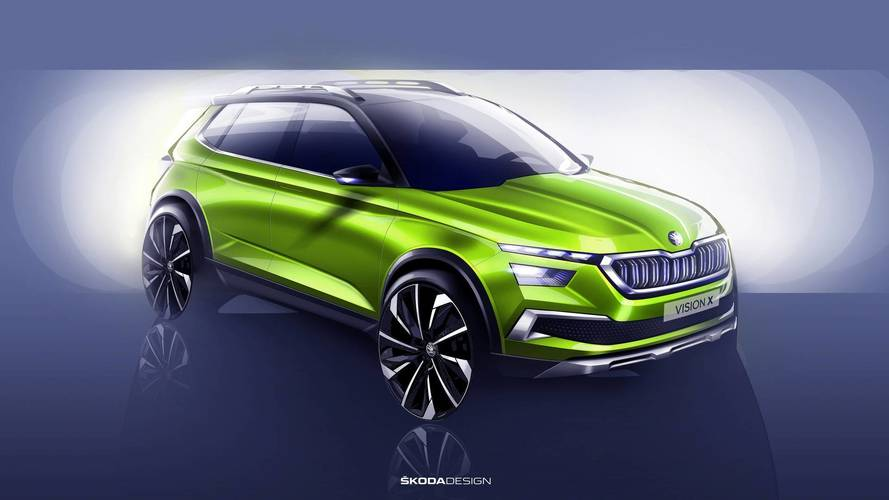 Skoda offers glimpse of Geneva SUV concept with Vision X teaser