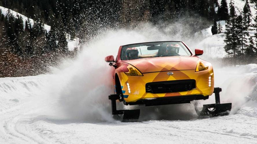 Nissan Turns The 370Z Into A Huge Snowmobile