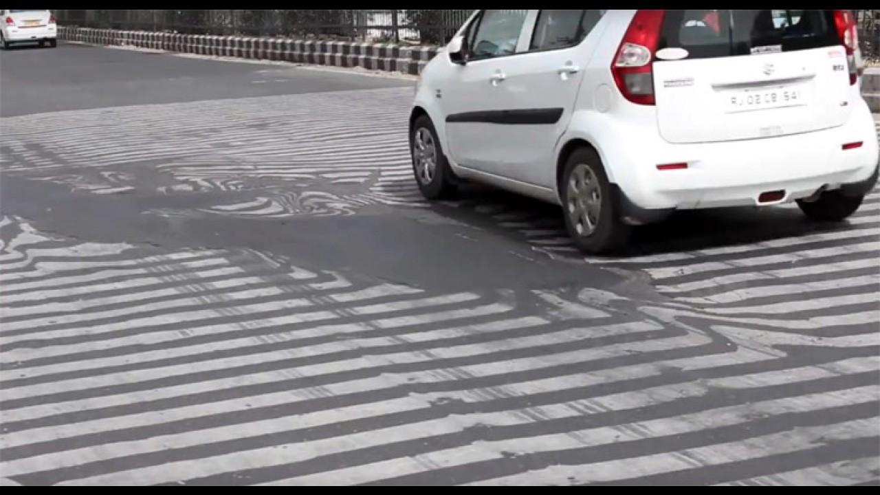 Forte onda de calor derrete até o asfalto na Índia - vídeo