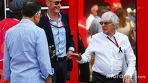 Bernie Ecclestone with Donald Mackenzie, CVC Capital Partners Managing Partner, Co Head of Global Investments