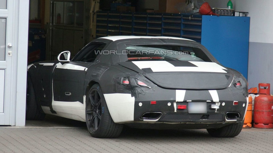 Mercedes SLS AMG Gullwing White Prototype Spied Again