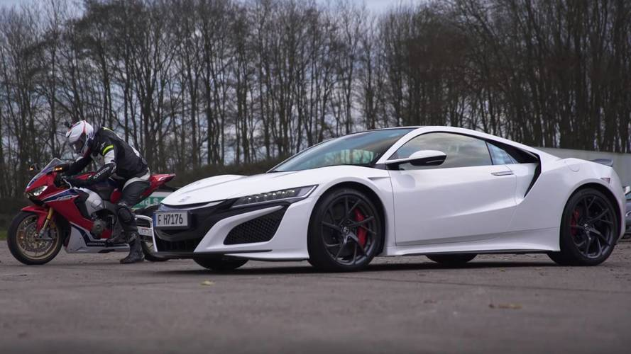 Supercar Vs. Bike: Honda NSX Drag Races Fireblade