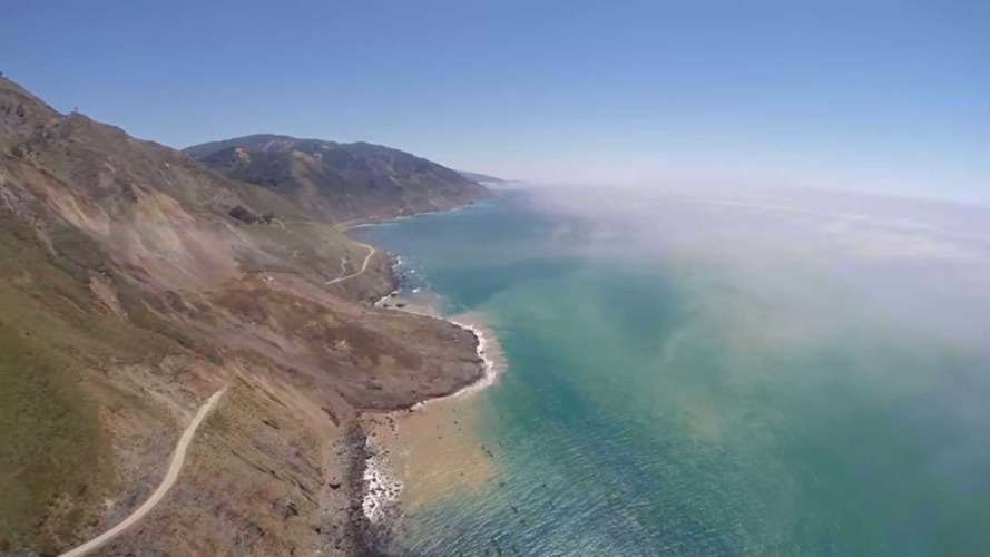 Big sur california landslide buries highway