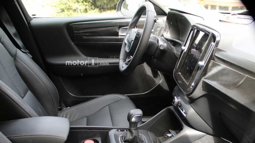 2018 Volvo XC40 new spy shots including interior cabin
