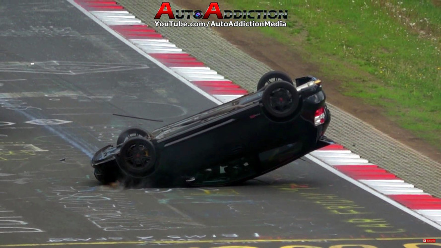 Honda Civic Type R Does Rollover Roof Slide At Nurburgring