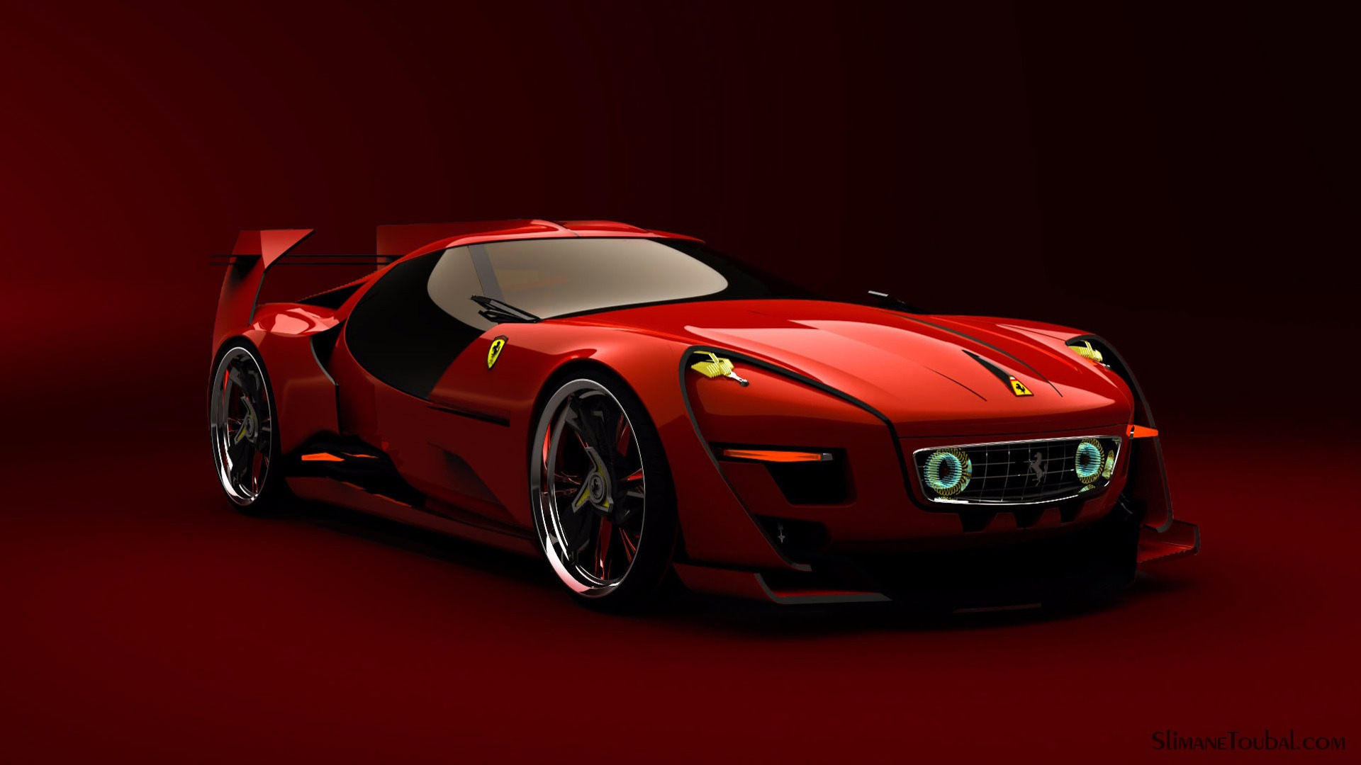 This Fan Made Ferrari Concept Hits All The Right Retro Buttons