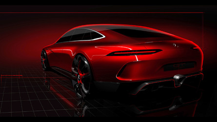 Mercedes-AMG GT Concept four-door teased on video