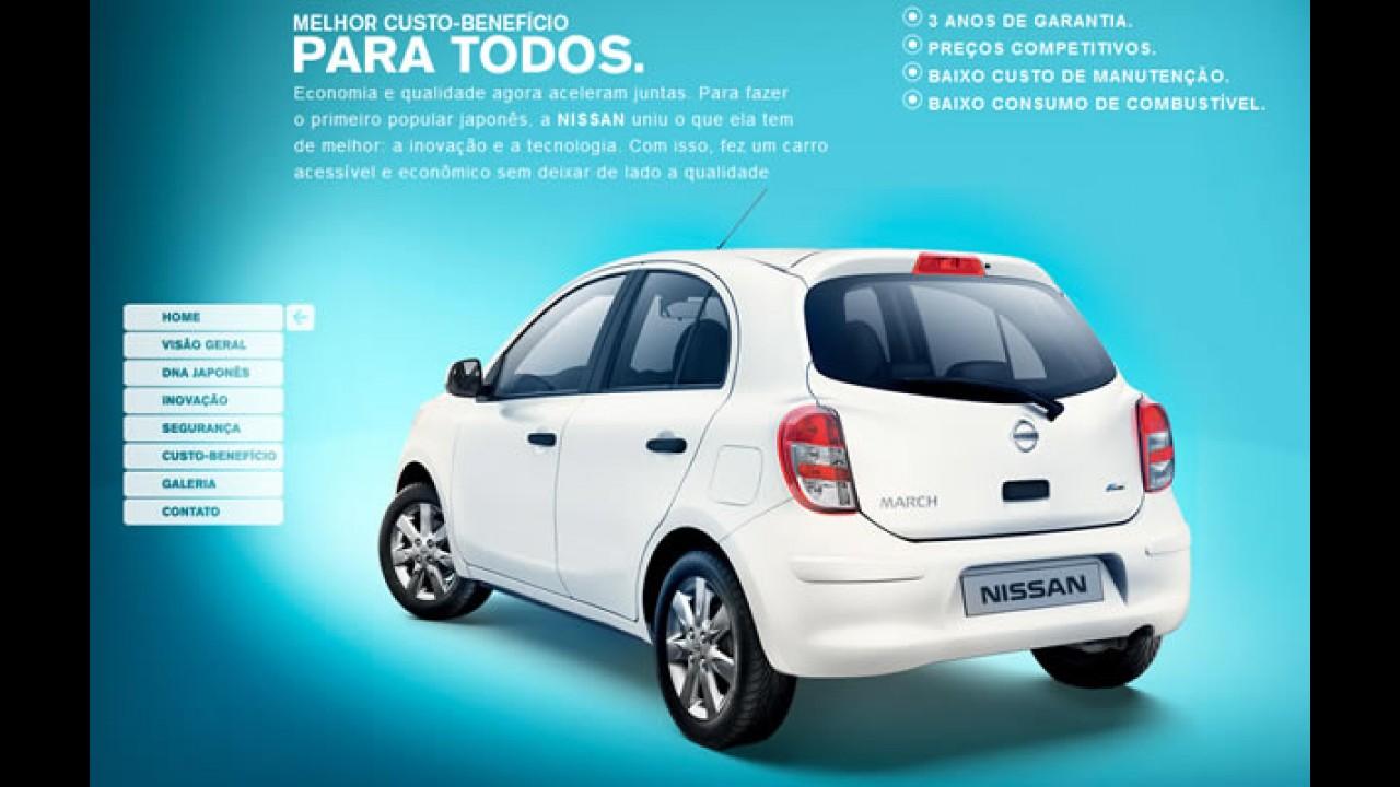 Nissan lança hotsite para o compacto March