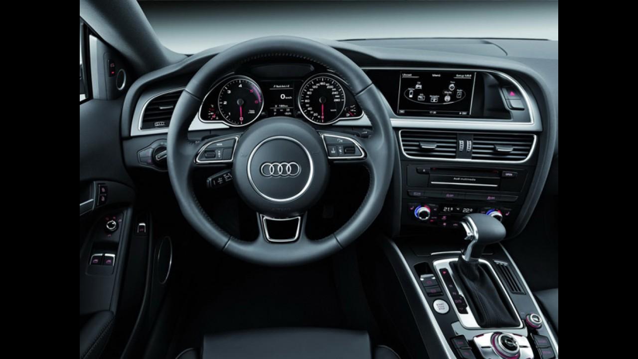 Audi A5 recebe mudanças na linha 2012 - Modelo estará em Frankfurt