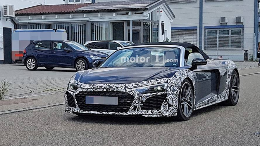 L'Audi R8 Spyder restylée se balade