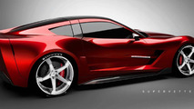 Supervettes SV8.R C7 aero kit for Chevrolet Corvette C6