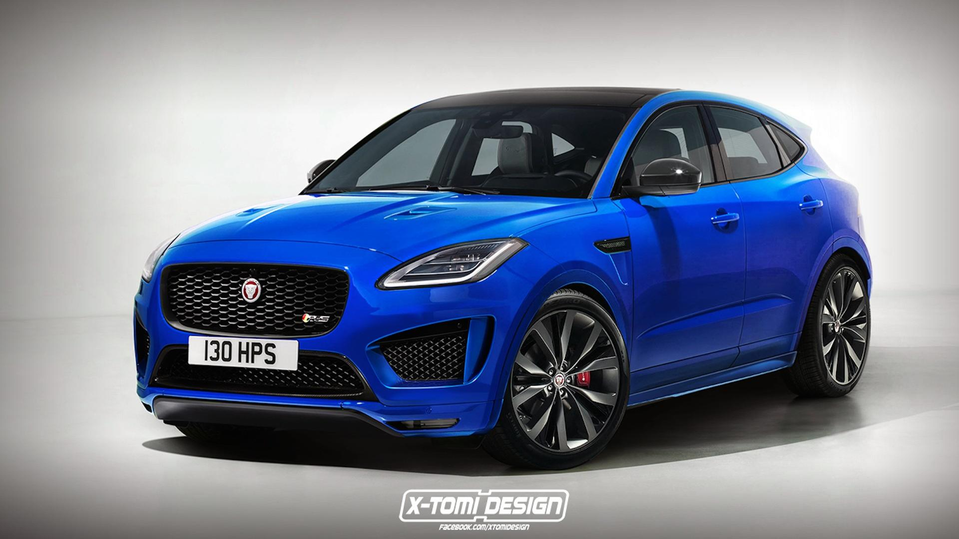 jaguar e pace rendered in hot r s trim. Black Bedroom Furniture Sets. Home Design Ideas