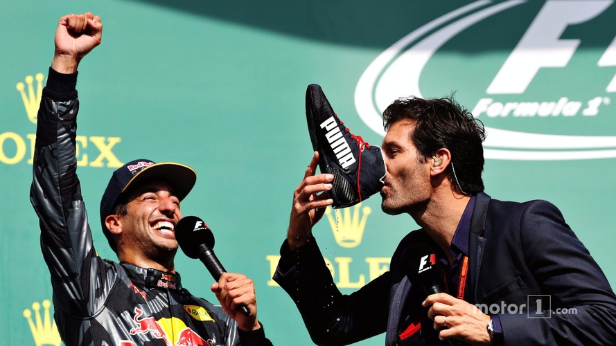 Webber opens up on Spa podium 'shoey'