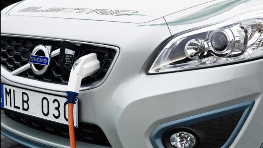 Volvo C30 Electric: 1,5 ore per la ricarica